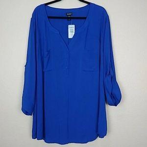 Electric blue blouse